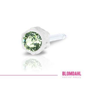 Kolczyk do przekłuwania do uszu peridot 4 mm 1 szt Blomdahl kolczyki