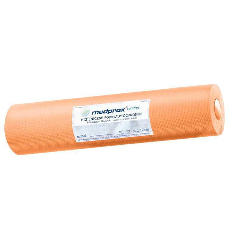 MEDPROX Comfort Higieniczne podkłady ochronne 30cmx20mb - pomarańczowe