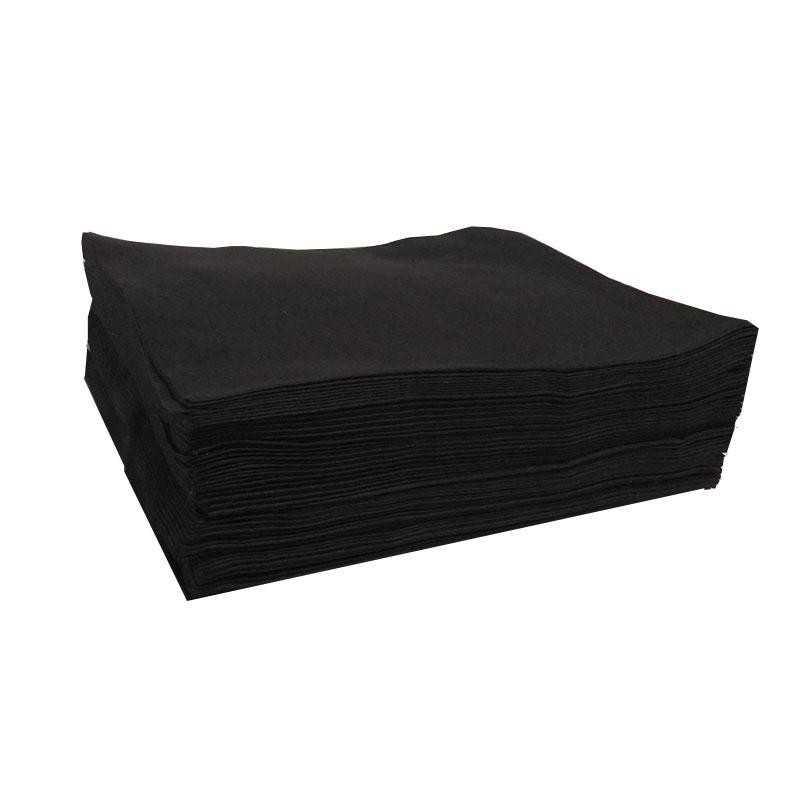 Ręczniki z włókniny fryzjerski czarny 70x50 - 50szt