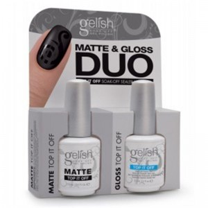 Zestaw GELISH Hand&Nail Harmony Matte&Gloss Duo 2x15ml - Matte Top It Off + Top It Off