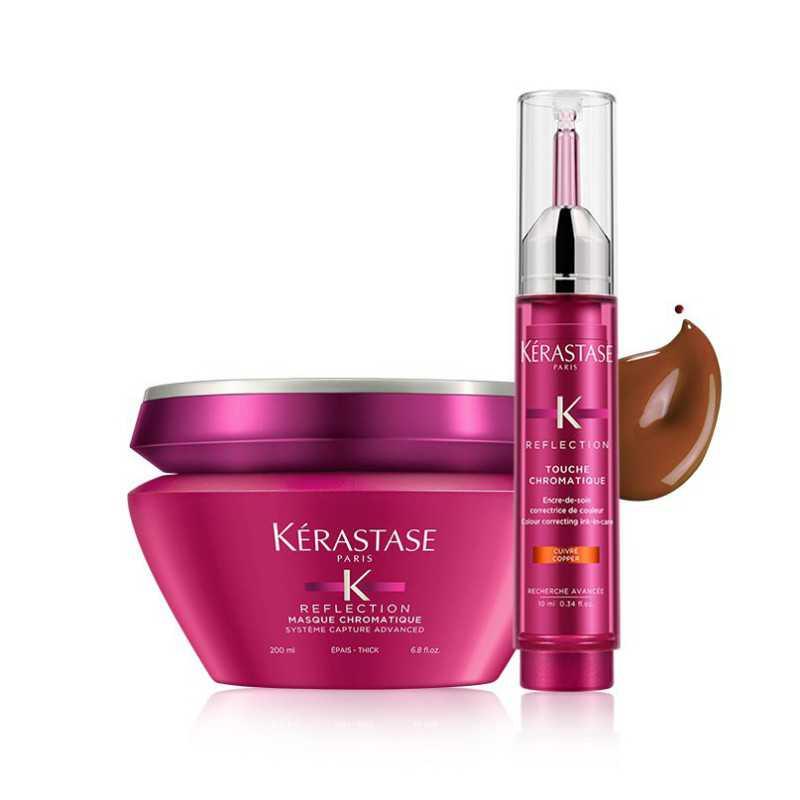 Zestaw Kerastase Chromatique Maska włosy grube 200ml + Tusz miedziany 10ml