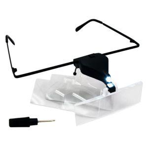 Okulary kosmetyczne powiększające 1,5x 2,5x 3,5x LED