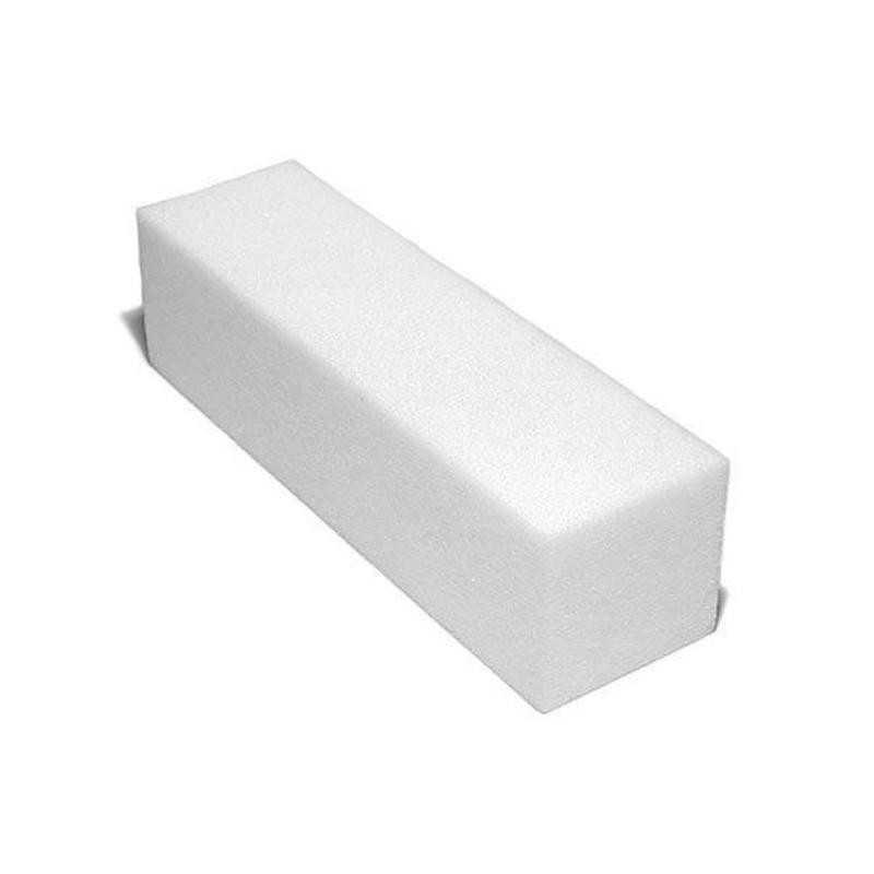 Blok polerski LUX biały czterostronny do paznokci 100/100 - 1szt