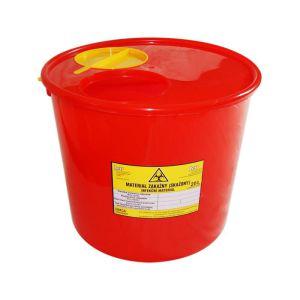 Pojemnik wiadro na odpady medyczne 20 L czerwone
