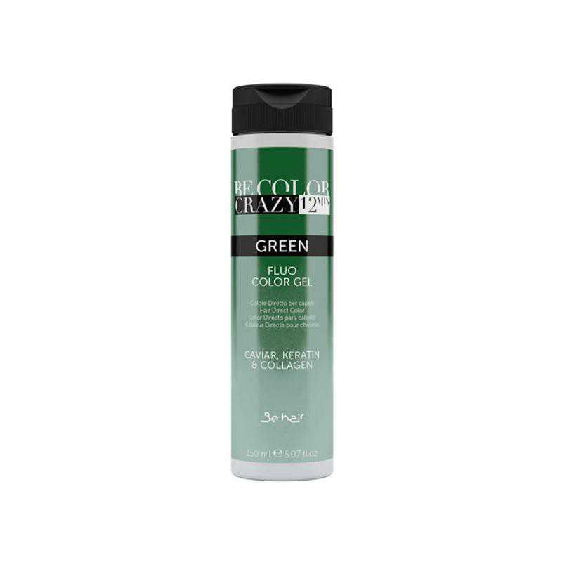 Farba do włosów w żelu Green 150 ml 12 minut Be Color Crazy
