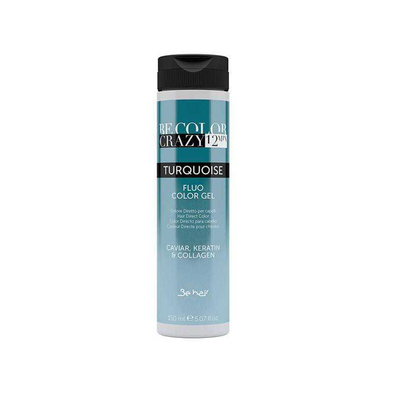 Farba do włosów w żelu Turquoise 150 ml 12 minut Be Color Crazy