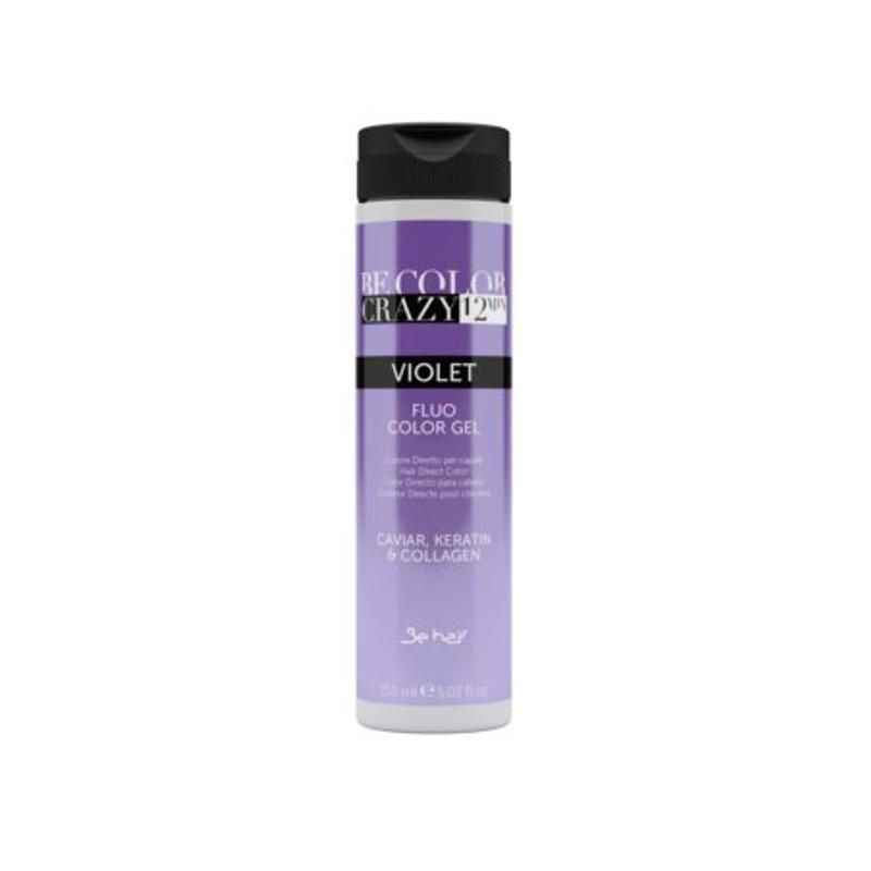 Farba do włosów w żelu Violet 150 ml 12 minut Be Color Crazy