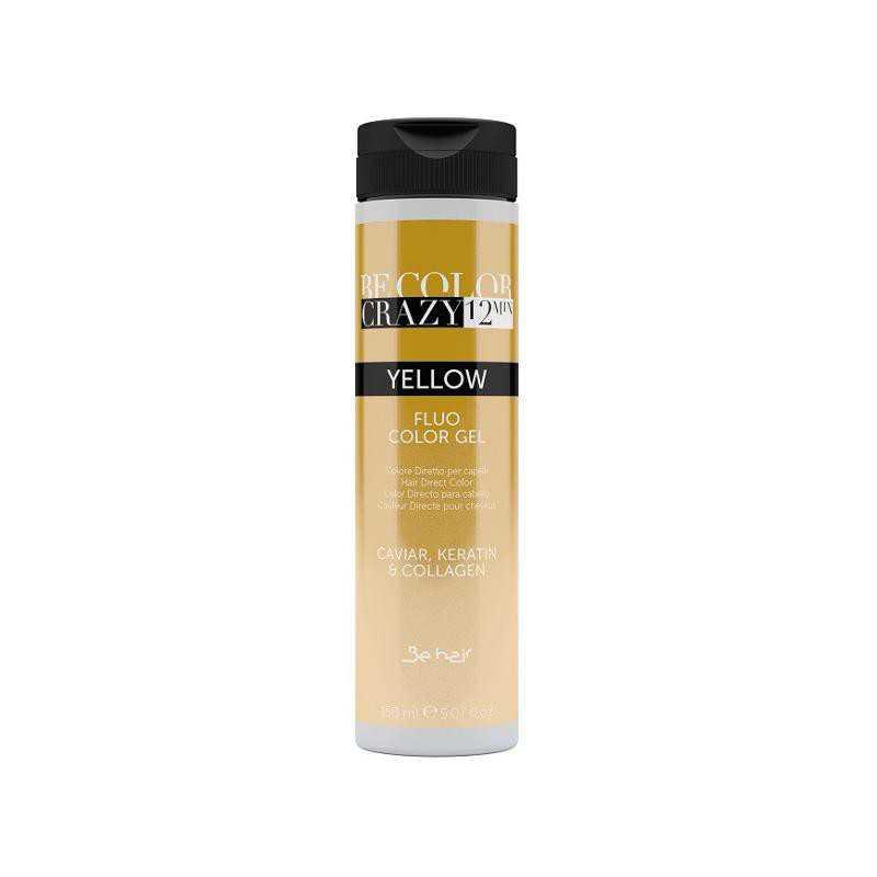 Farba do włosów w żelu Yellow 150 ml 12 minut Be Color Crazy