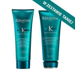 Zestaw do włosów bardzo zniszczonych Kerastase Therapiste: kąpiel 250ml + odżywka 200ml