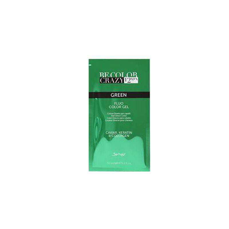 Farba do włosów w żelu zielona 30 ml 12 minut Be Color Crazy