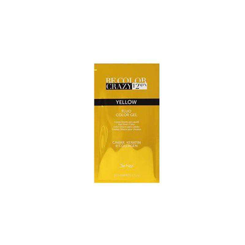 Farba do włosów w żelu żółta 30 ml 12 minut Be Color Crazy