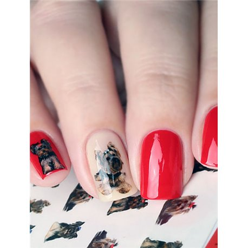 Naklejki wodne na paznokcie Milv Art - N 381 P