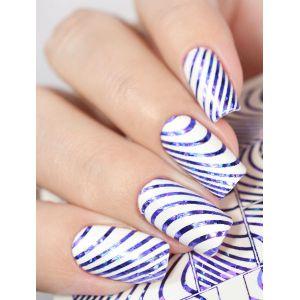 Naklejki wodne na paznokcie Milv Art - K 7 blue