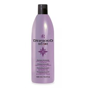 Rozświetlający szampon do włosów blond 1000ml RR Line Diamond Star