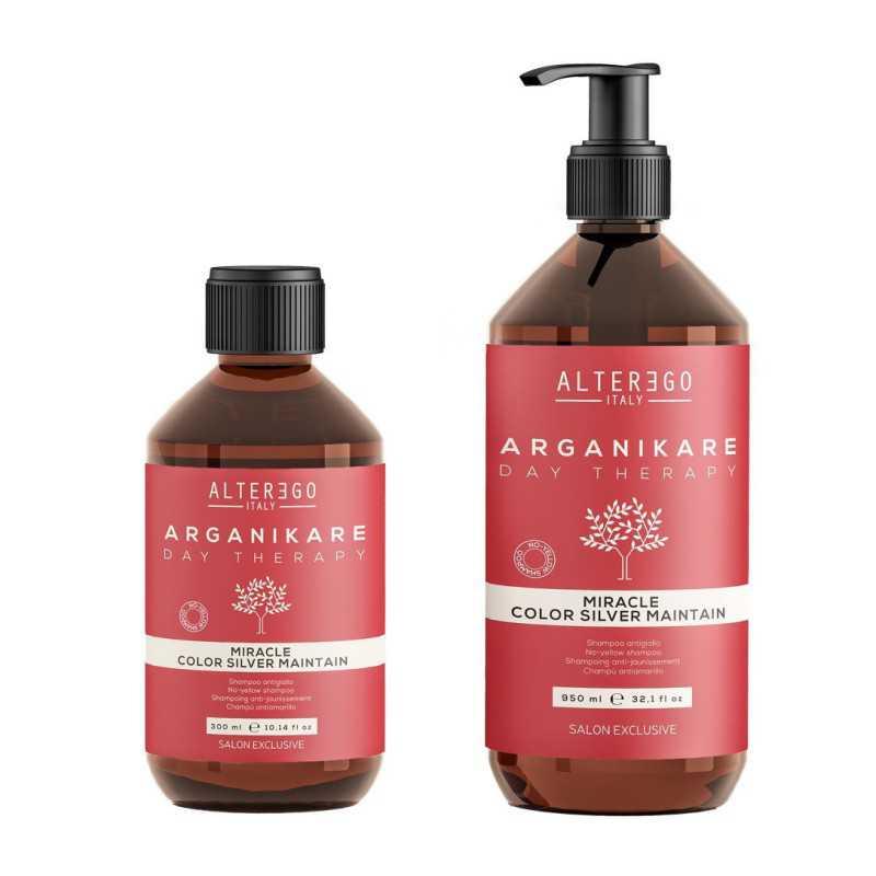 Szampon neutralizujący żółty odcień 300ml Alter Ego Arganikare Miracle Color Silver Maintain Shampoo