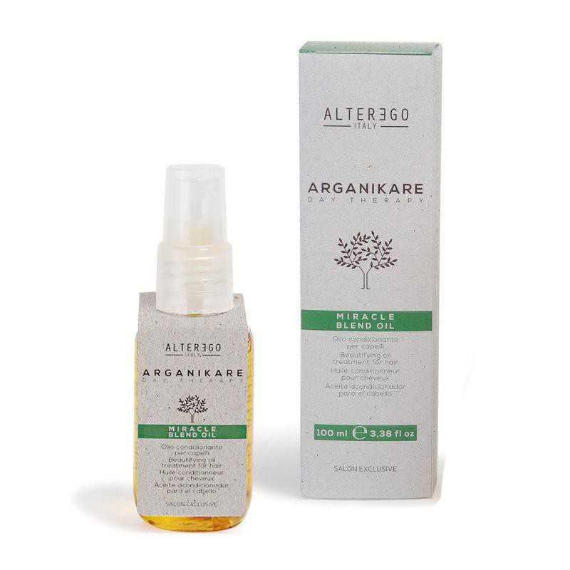 Olejek upiększający do wszystkich rodzajów włosów 50ml Alter Ego Arganikare Miracle Blend Oil
