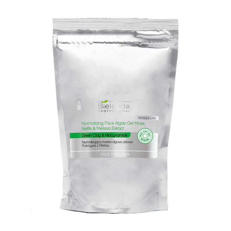 Maska algowo-żelowa normalizująca pokrzywa z melisą zapas 190g w torbie Bielenda Professional