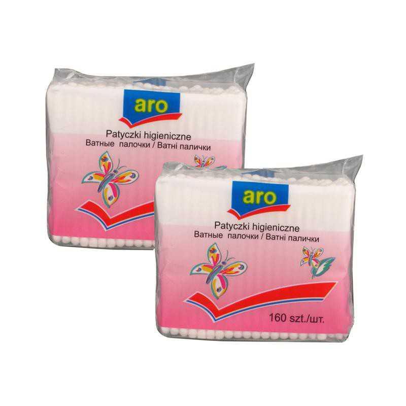 Patyczki higieniczne ARO 2x160szt