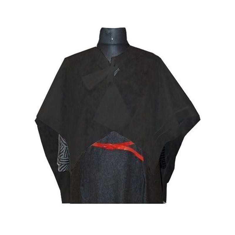 Pelerynki z włókniny czarne do strzyżenia, duża jednorazowa - 10 szt