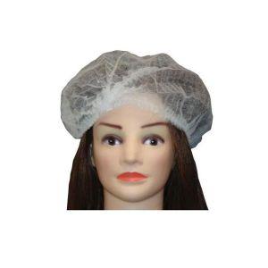 Czepki kosmetyczne z włókniny clip białe z gumką czepek 100szt. jednorazowe