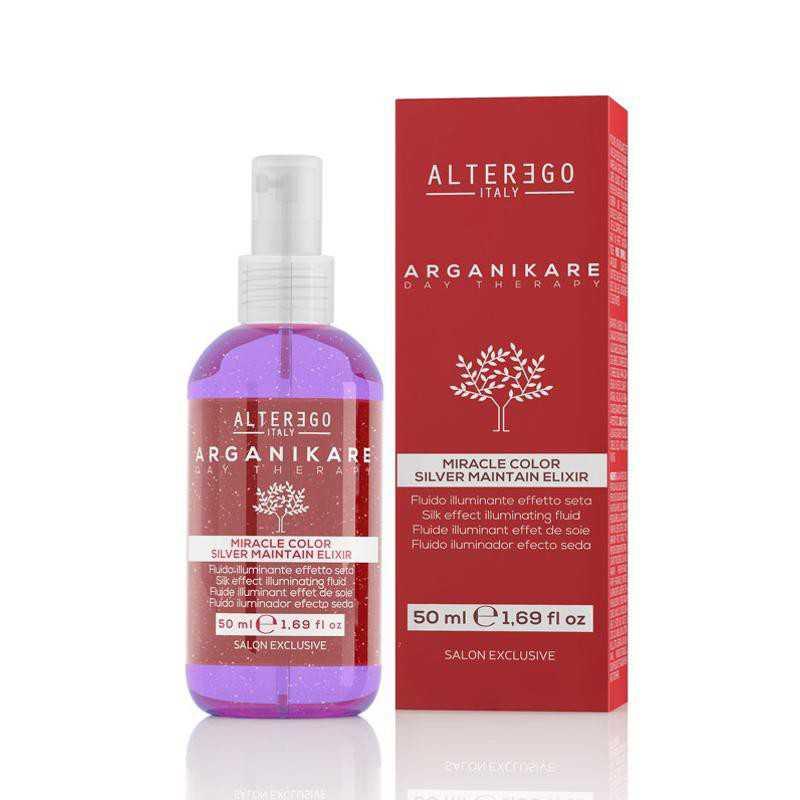 Fluid rozświetlający do włosów blond 50 ml Arganikare Miracle Color Silver Maintain Elixir