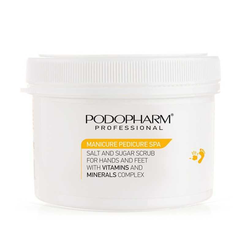 Peeling solno-cukrowy do dłoni i stóp z kompleksem witamin i minerałów 600 g Podopharm
