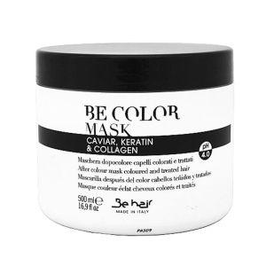 Maska do włosów zakwaszająca 500 ml zamykająca łuskę pH 4,0 Be Hair BeTech z kawiorem keratyną i kolagenem