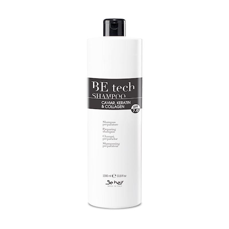 Szampon oczyszczający przed zabiegami 1000 ml pH 7,0 Be Hair BeTech z kawiorem keratyną i kolagenem