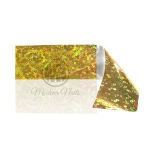 Folia transferowa nr 32 kółka złote holo 120x4 cm Modena Nails