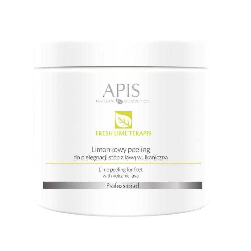 Peeling do stóp limonkowy z lawą wulkaniczną 500g Apis Professional Fresh Lime Terapis