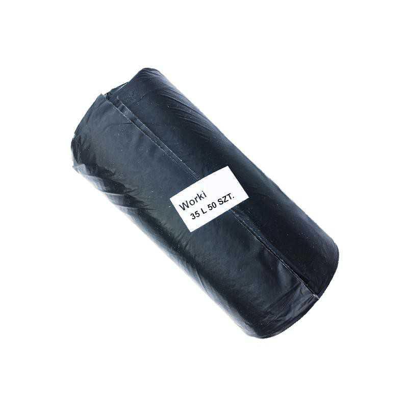 Worki na śmieci mocne 35L 50szt LDPE czarne
