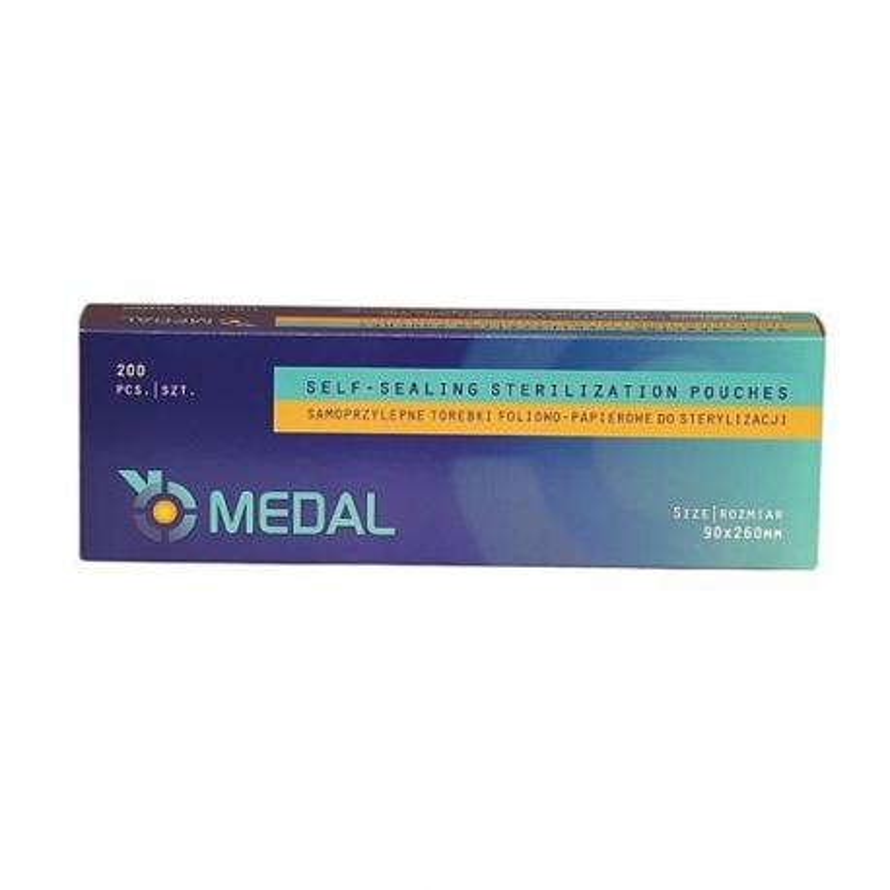 Torebki pakiety do sterylizacji 90x260mm 200szt Medal