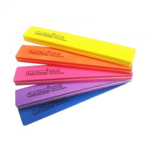 Polerki Sunshine szerokie proste 100/180 10szt kolorowe polerka