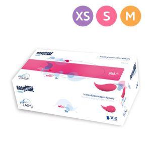 Rękawiczki nitrylowe rozm. XS, różowe Zarys EasyCARE jednorazowe -100szt