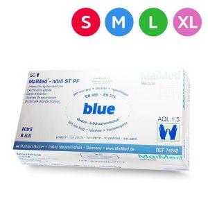 Rękawiczki nitrylowe 8mil grube niebieskie 50szt Maimed rękawice jednorazowe