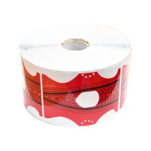 Szablony czerwone szerokie dwustronne klasyczny i szpic 500szt do przedłużania paznokci