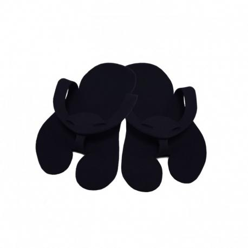 Klapki japonki filcowe czarne do pedicure 10 par jednorazowe premium