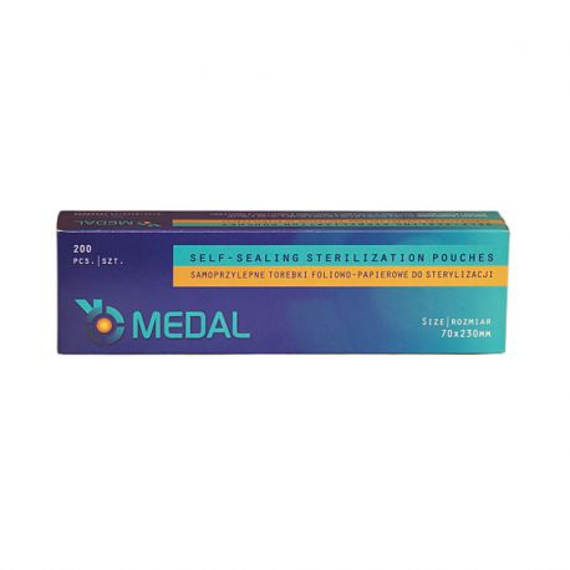 Torebki pakiety do sterylizacji 70x230mm 200szt Medal