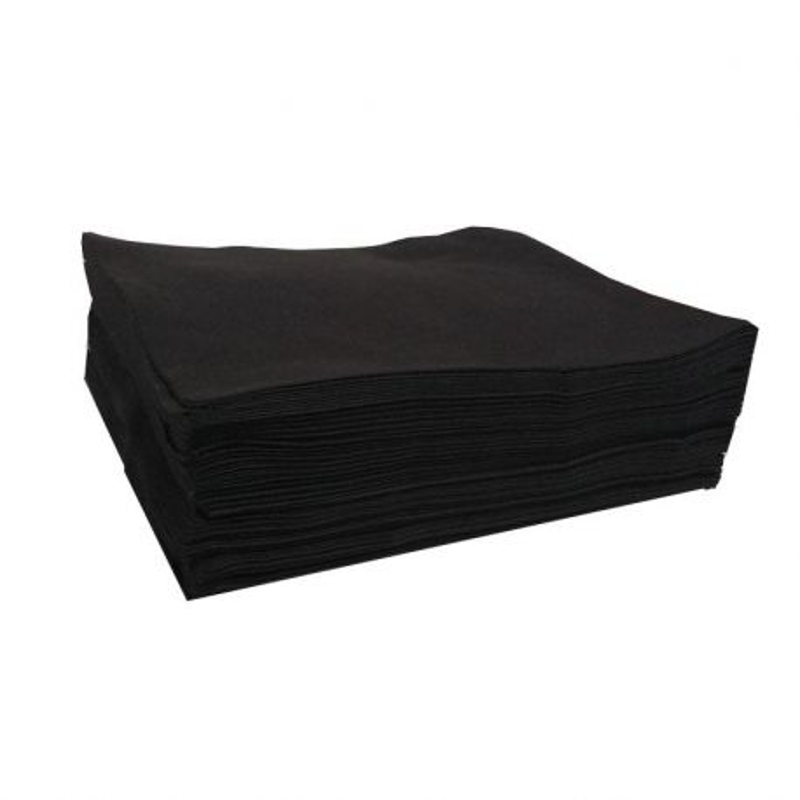 Ręczniki z włókniny fryzjerskie czarne 70x50 100szt