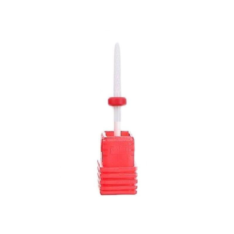 Frez ceramiczny długi wąski zaokrąglony delikatny czerwony do hybrydy