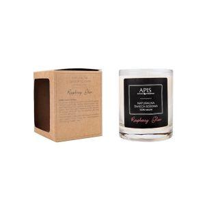 Świeca sojowa aromaterapeutyczna do masażu Raspberry Glow 220g Apis Professional