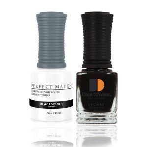Zestaw lakier hybrydowy i klasyczny Black Velvet Perfect Match 2x15ml