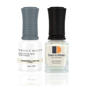Zestaw lakier hybrydowy i klasyczny Marshmallow Gin Perfect Match 2x15ml