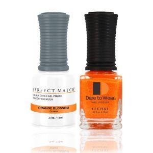 Zestaw lakier hybrydowy i klasyczny Orange Blossom Perfect Match 2x15ml