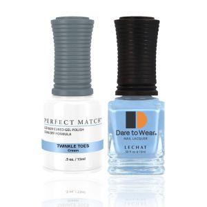 Zestaw lakier hybrydowy i klasyczny Twinkle Toes Perfect Match 2x15ml
