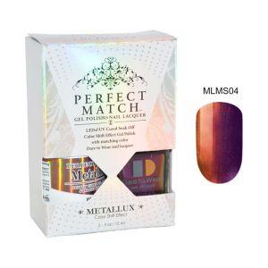 Zestaw Perfect Match Paradox MLMS04 lakier hybrydowy z efektem Meallux + lakier z efektem syrenki 2x15ml
