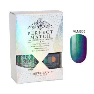 Zestaw Perfect Match Hypnotic MLMS05 lakier hybrydowy z efektem Meallux + lakier z efektem syrenki 2x15ml