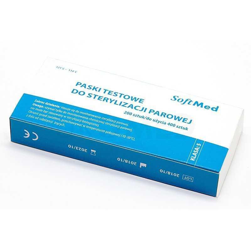 Testy do sterylizacji parowej SoftMed KLASA 5 200 szt.
