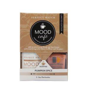 Zestaw lakierów klasyczny i hybrydowy PMMS004 Mood Cafe Pumpkin Spice