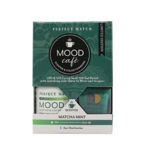 Zestaw lakierów klasyczny i hybrydowy PMMS006 Mood Cafe Matcha Mint